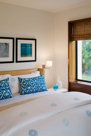 Contemporary Guest Bedroom with Standard height, bedroom reading light, picture window