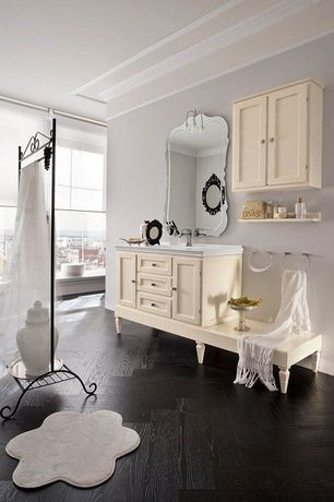 Eclectic Full Bathroom with Bellmont Cabinets - Concord, ZGallerie Anabelle Mirror