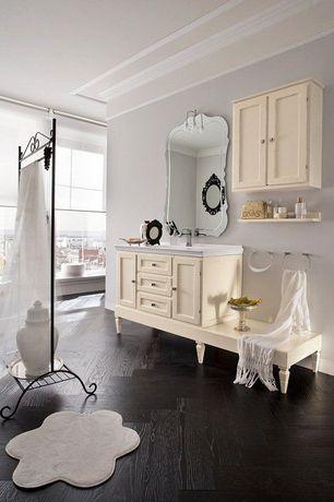 "Eclectic Full Bathroom with Virginia Vintage 5"" Engineered Walnut Flooring in Black"