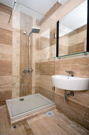 Contemporary 3/4 Bathroom with Kohler bathroom toilet shower square full suite of new shipping copper rain showers