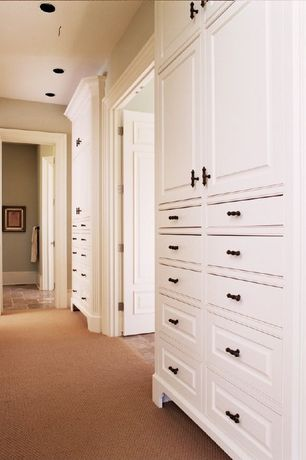Traditional Closet with Carpet, Hafele Cabinet Hardware - Bordeaux Knob in Rust, Shaw Floors Palomino Carpet