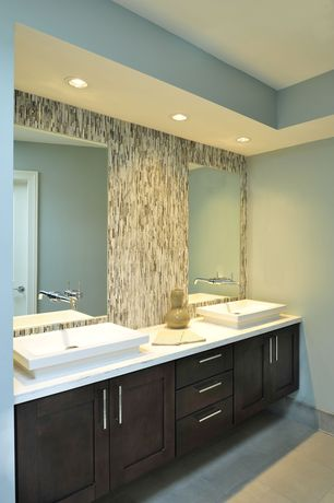 Contemporary Master Bathroom with Signature Hardware Rotunda Wall-Mount Bathroom Faucet