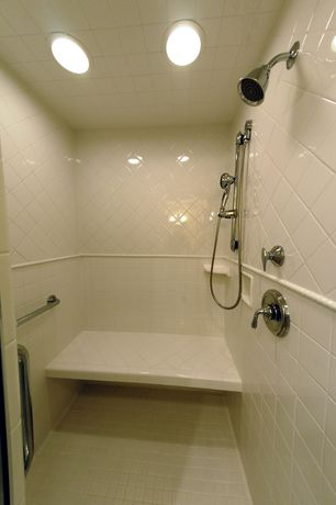 Traditional Master Bathroom with Dal tile rittenhouse square tile
