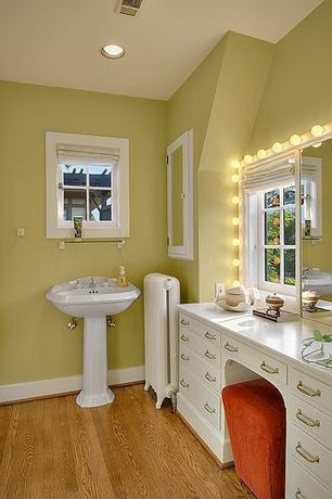Eclectic Master Bathroom with Built-in bookshelf, Inset cabinets, European Cabinets, High ceiling, Limestone counters