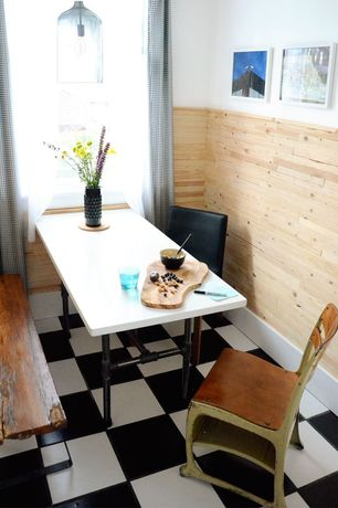Contemporary Dining Room with Urban Wood Goods Brooklyn Modern Rustic Reclaimed Wood Bench, Pendant light, Paint 1