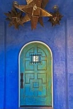 Rustic Front Door with six panel door