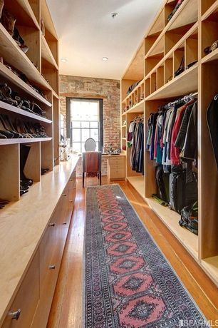 Contemporary Closet with Hardwood floors, High ceiling
