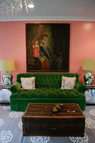 Eclectic Living Room with William sofa, vance emerald