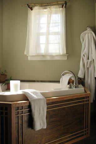 "Craftsman Master Bathroom with American Acrylic 60"" x 60"" Soaker Corner Bathtub with Raised Headrest, High ceiling"