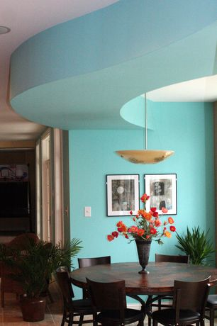 Dining Room with Lbl lighting veneto 1 light inverted pendant, Universal furniture california extendable dining table