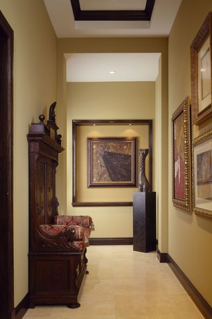 Traditional Hallway with Concrete floors, can lights, Standard height