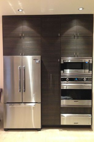 "Contemporary Kitchen with Kenmore Elite 30"" Electric Double Wall Oven w/ Dual Fan Convection, European Cabinets"