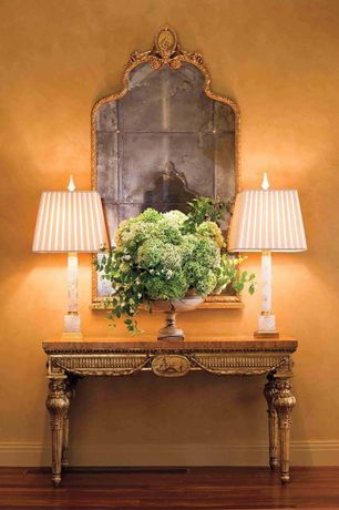 Traditional Entryway with Eloquence one of a kind antique mirror louis xvi french gold gilt, Hardwood floors
