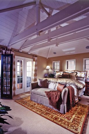 Tropical Master Bedroom with Radici Bellisima Brick Rug, Pottery Barn Lewis Slip Covered Daybed, Paint 1, Paint 2