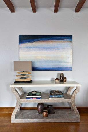 Contemporary Living Room with Maverick Console Table, Element Driftwood and Natural Stone Table Lamp
