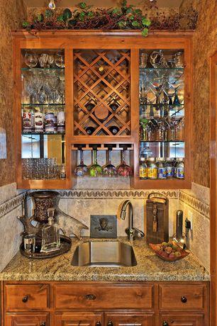 Mediterranean Bar with Carpet, Standard height, Built-in bookshelf