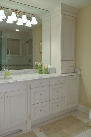 Traditional Full Bathroom with Undermount sink, Cornerstone Lighting Sudbury Chrome Bathroom Light, flush light
