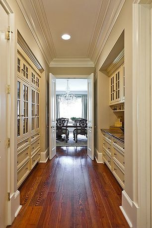 Traditional Pantry with KraftMaid Cabinetry Glass Doors Traditional Mullion With Bistro Glass, specialty door, French doors