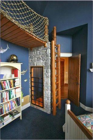 Traditional Kids Bedroom with Paint 1, Beadboard kids bookshelf