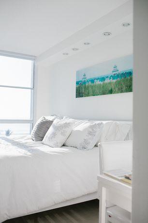 Modern Master Bedroom with Carpet