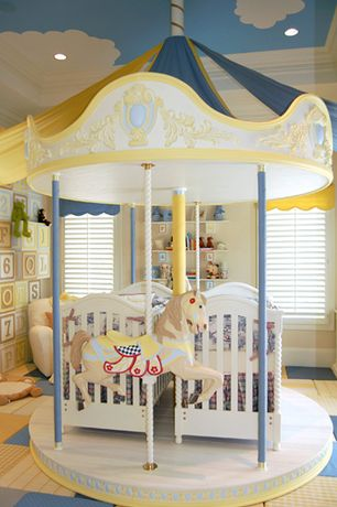 Contemporary Kids Bedroom with Paint 1, Paint 2, Hunter douglas newstyle hybrid shutters