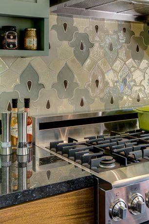 Contemporary Kitchen with Pental - Mesabi Black Polished Granite