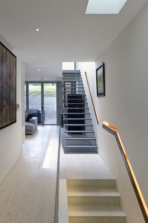 Contemporary Staircase with Floating staircase