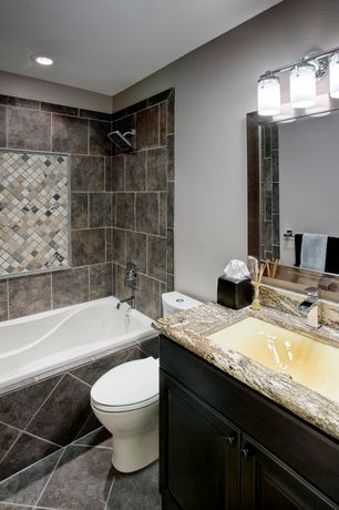 Traditional full bathroom with undermount sink raised for Bathroom ideas zillow