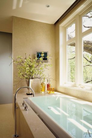 Traditional Master Bathroom with Powell & Bonnell, Kohler Sok Overflowing Bath with Chromatherapy and Right Hand Drain