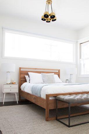 Master Bedroom with Pendant light, Hardwood floors