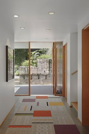 Modern Entryway with Concrete tile , French doors