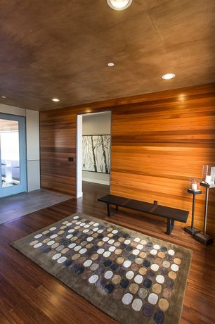 Contemporary Entryway with Hardwood floors, French doors, soapstone tile floors