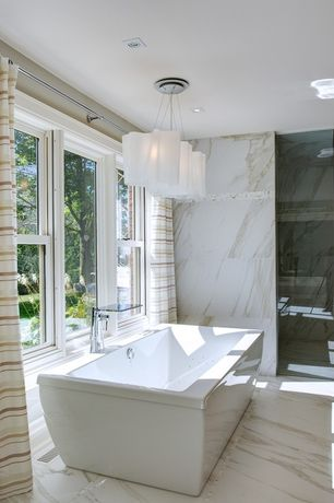 Traditional Master Bathroom with Master bathroom, Choose Frameless Pivot Hinge Shower Door Configurations, Freestanding