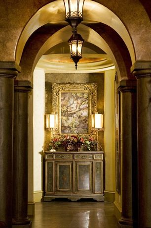 Traditional Entryway with Pair grayson gilded european classic candlestick table lamp, Paint 1, Groin vaulted ceiling