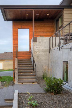 Modern Front Door with Pathway