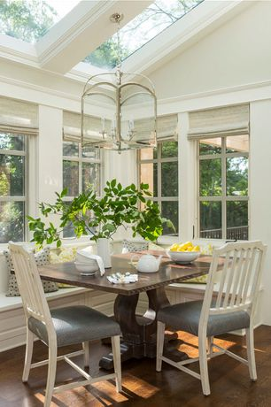 Traditional Dining Room with Crown molding, Exposed beam, Liberty Furniture Cottage Cove Side Chair, Standard height, Paint 1