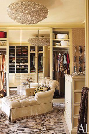 Traditional Closet with Sodezign Zebra High-End Design Rug - Customizable, Carpet, Built-in bookshelf, Crown molding