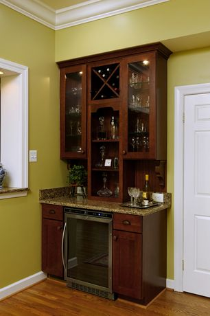 Traditional Bar with can lights, Waterford Lismore Nouveau Platinum Wine Glass, White interior 6-panel door, Hardwood floors