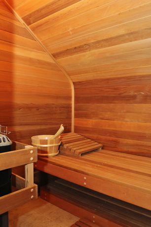 Rustic Master Bathroom with Bench, Sauna, Master bathroom, 16K Basic Woodburning Sauna Heater