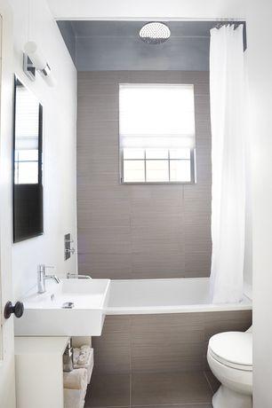 Contemporary Full Bathroom with Riobel CS01C CS Series Single Hole Faucet, Chrome, ULTRA-THIN RAIN SHOWER HEAD, Rain shower