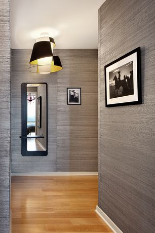 Contemporary Hallway with flush light, Hardwood floors, Oak - Butterscotch 5 in. Solid Hardwood Wide Plank, Standard height