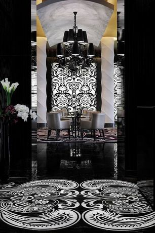 Art Deco Living Room with High ceiling, Traditional crystal 12-light black chandelier with hand cut crystal, Adornments e87