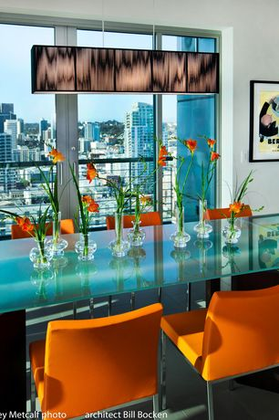 Contemporary Dining Room with Abigails Miss Daisy Bud Vase, Casabianca Furniture Aldo Side Chair