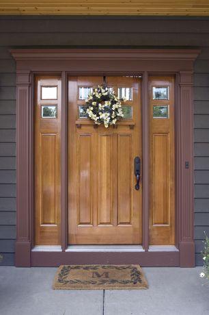 Craftsman Front Door with Pathway, exterior concrete tile floors, French doors, exterior tile floors
