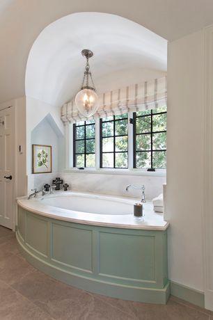 Traditional Master Bathroom with Pendant light, Livex 5084 Jefferson 3 Light Inverted Pendant, Master bathroom