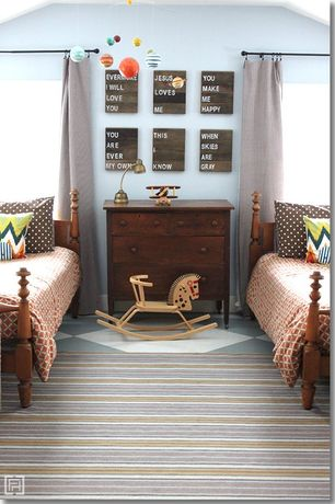 Country Kids Bedroom with Crown molding, Carpet
