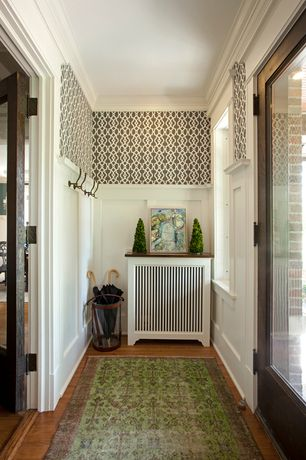 Traditional Entryway with Standard height, Generations 3434J Oriental Rug, Paint 1, Imperial Trellis Brown/White-Large