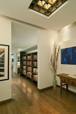 Contemporary Entryway with Hardwood floors, Standard height, Box ceiling
