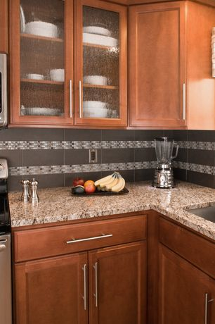 Modern Kitchen with Artesia Cabinet Doors  Artesia Cabinet Doors Pin It Squared Recessed Panel, Simple granite counters