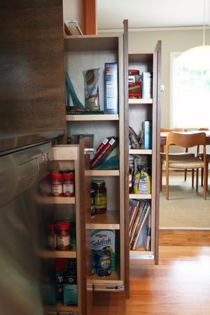 "Traditional Pantry with Pendant light, Hardware resources - dubois 5"" base cabinet pull out - (hr-116625), Hardwood floors"